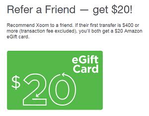 Xoom's Refer a Friend Program